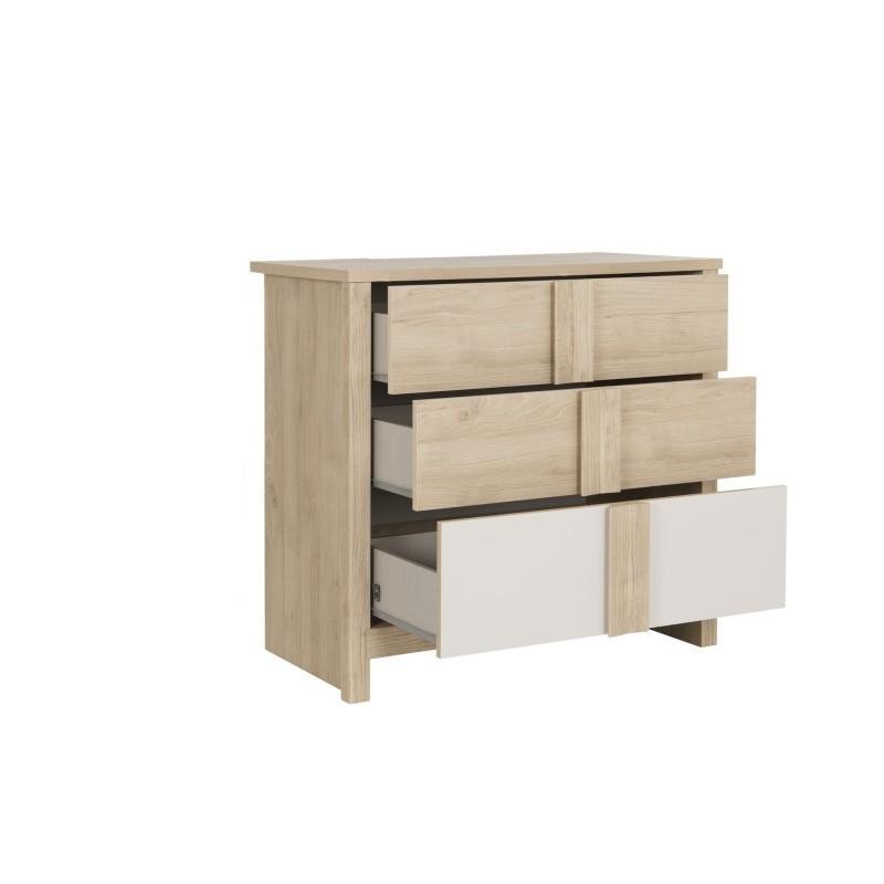 Commode 3 tiroirs Evan,Commode, Chambre d'enfant,Fixation