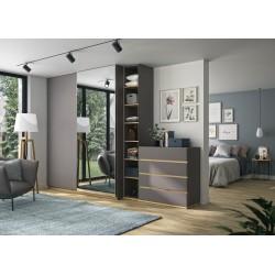 Commode Nestor,Chambre à coucher, Accueil,4 grands tiroirs de