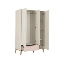Armoire 3 portes 1 tiroir Alika,Armoire, Chambre d'enfant,1