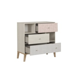 Commode Alika 3 tiroirs 2 niches,Commode, Chambre d'enfant,3