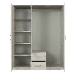 Kleiderschrank CHAMONIX 3 Türen 2 Schubladen  - 2