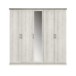 Armoire CHAMONIX 5 portes,Armoire, Chambre à coucher,Armoire