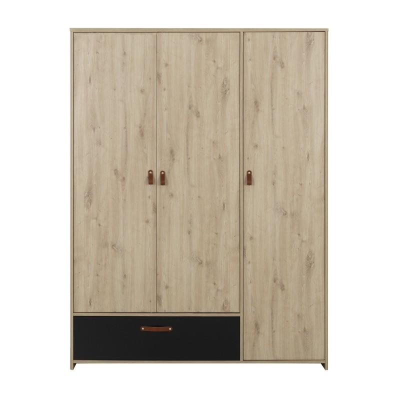 Kleiderschrank ARTHUS 3 Türen 1 Schublade  - 1