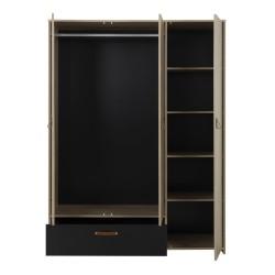 Kleiderschrank ARTHUS 3 Türen 1 Schublade  - 3