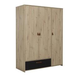 Kleiderschrank ARTHUS 3 Türen 1 Schublade  - 4