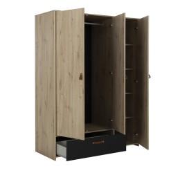 Kleiderschrank ARTHUS 3 Türen 1 Schublade  - 5