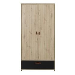Kleiderschrank ARTHUS  2 Türen 1 Schublade  - 1