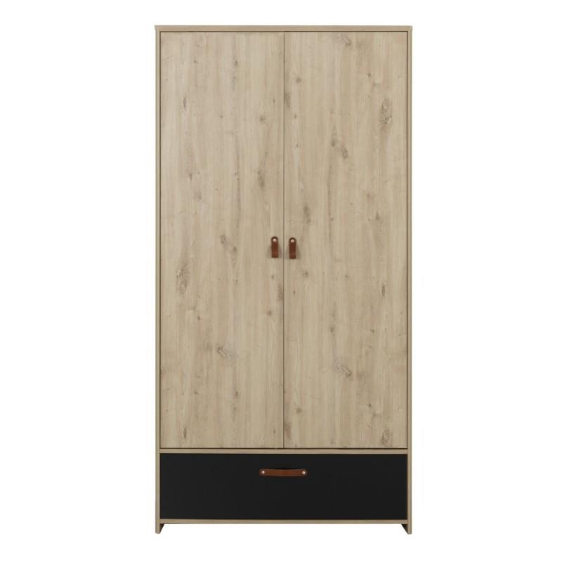 Armoire ARTHUS 2 portes,Armoire, Chambre de Jeune,1 tablette de