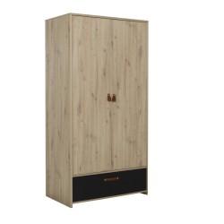 Kleiderschrank ARTHUS  2 Türen 1 Schublade  - 3