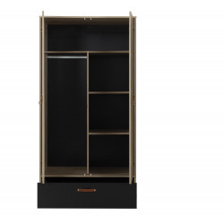 Kleiderschrank ARTHUS  2 Türen 1 Schublade  - 4