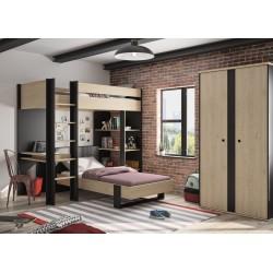 Armoire DUPLEX 2 portes,Armoire, Chambre de Jeune,Finition(s):