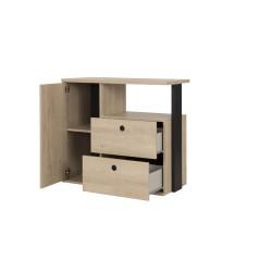 Commode DUPLEX 1,Commode, Chambre de Jeune,1 porte 2 tiroirs 1
