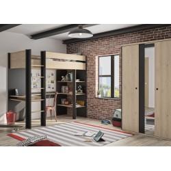 Lit DUPLEX haut type mezzanine,Cadre de Lit, Chambre de Jeune,1