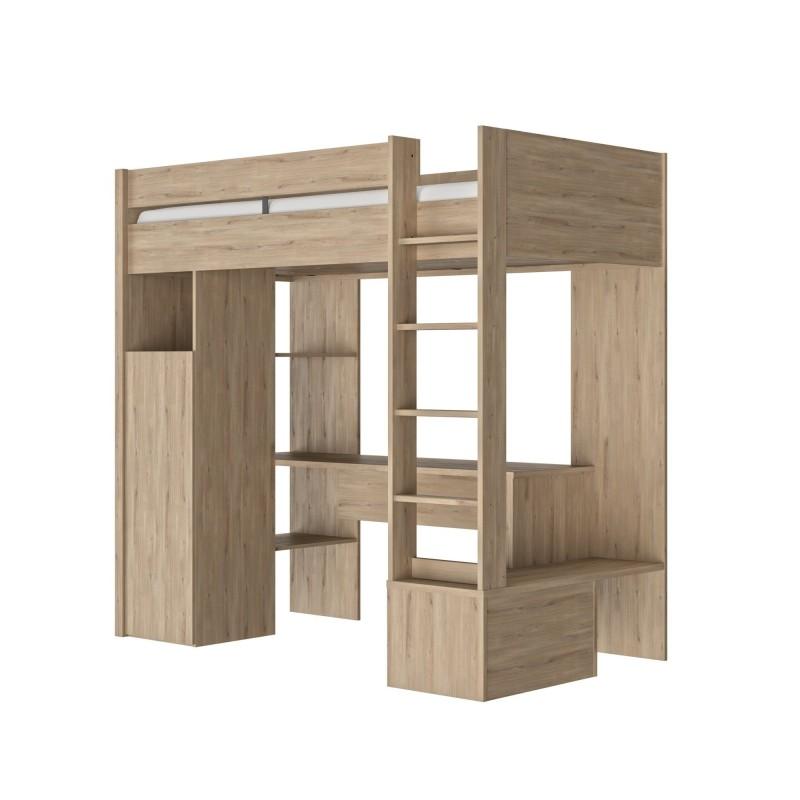 Lit ETHAN haut type mezzanine,Cadre de Lit, Chambre de
