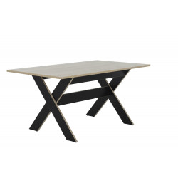 Table MEDOC,Tables, Salle à manger,Plateau en décor châtaignier