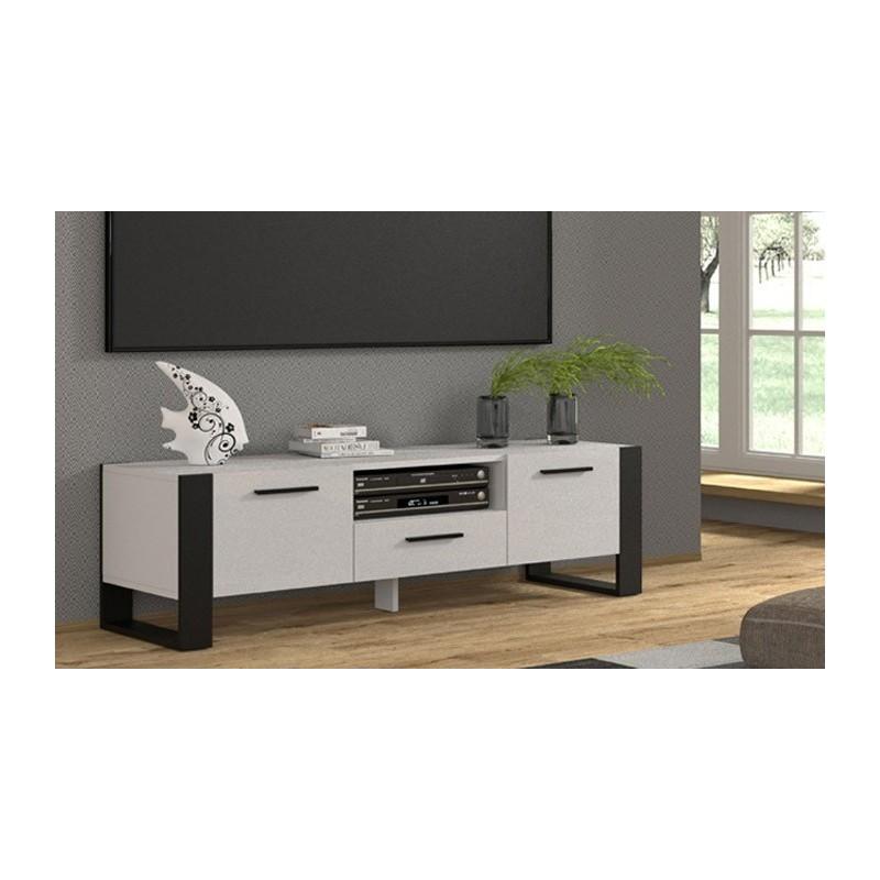 Banc TV Nuka 160cm Blanc  - 1