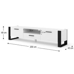 Banc Tv Nuka 200Cm Blanc  - 4