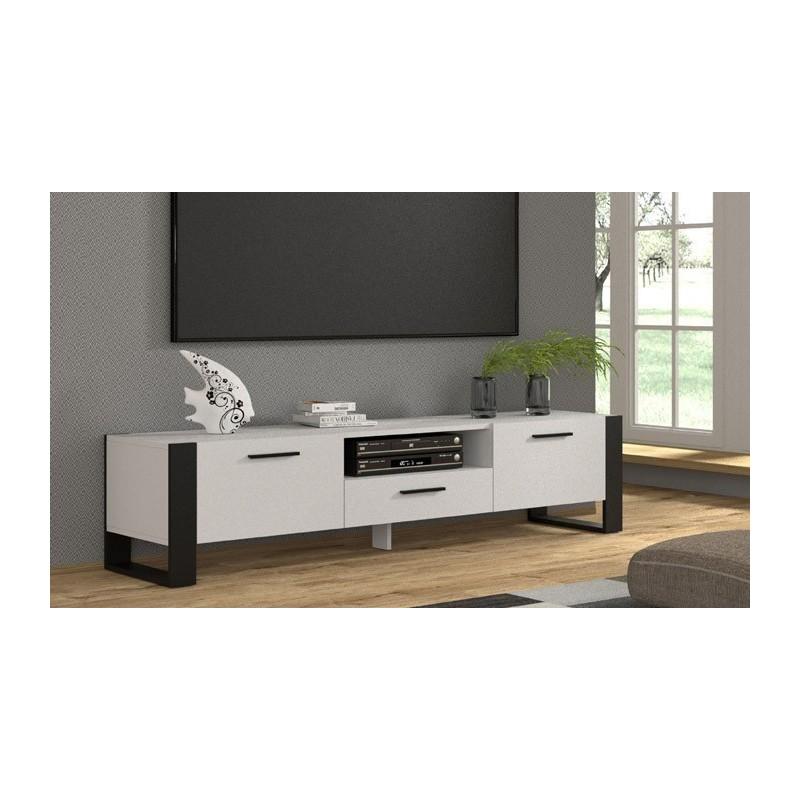 Banc Tv Nuka 200Cm Blanc  - 1