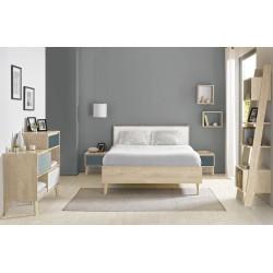 Lit Larvik,Cadre de lit, Chambre à coucher,Lit Larvik avec