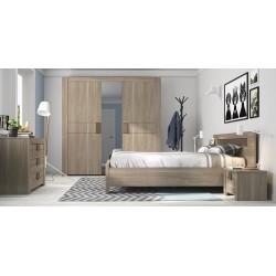 Armoire Moka 3 portes,Armoire, Chambre à coucher,1 porte