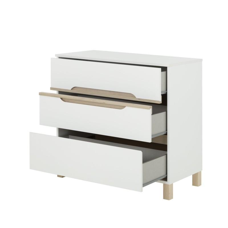 Commode 3 tiroirs Celeste,Commode, Chambre d'enfant,Fixation